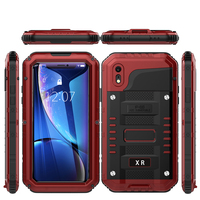 XS Max Red pepper IP68 Waterproof Shockproof Snowproof Dirt Proof Heavy Duty Protection Case for Apple iPhone XR 6 7 8 Plus