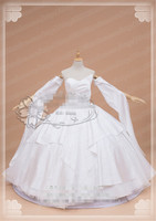 Anime Hot Game Final Fantasy FF15 Lunafrena Nox Fleuret Luna Wedding Dress Cosplay Costume White Clothing