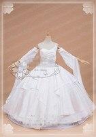 Anime Gorące Gry Final Fantasy FF15 Lunafrena Nox Fleuret Luna Wedding Dress Cosplay Costume Biały Odzież