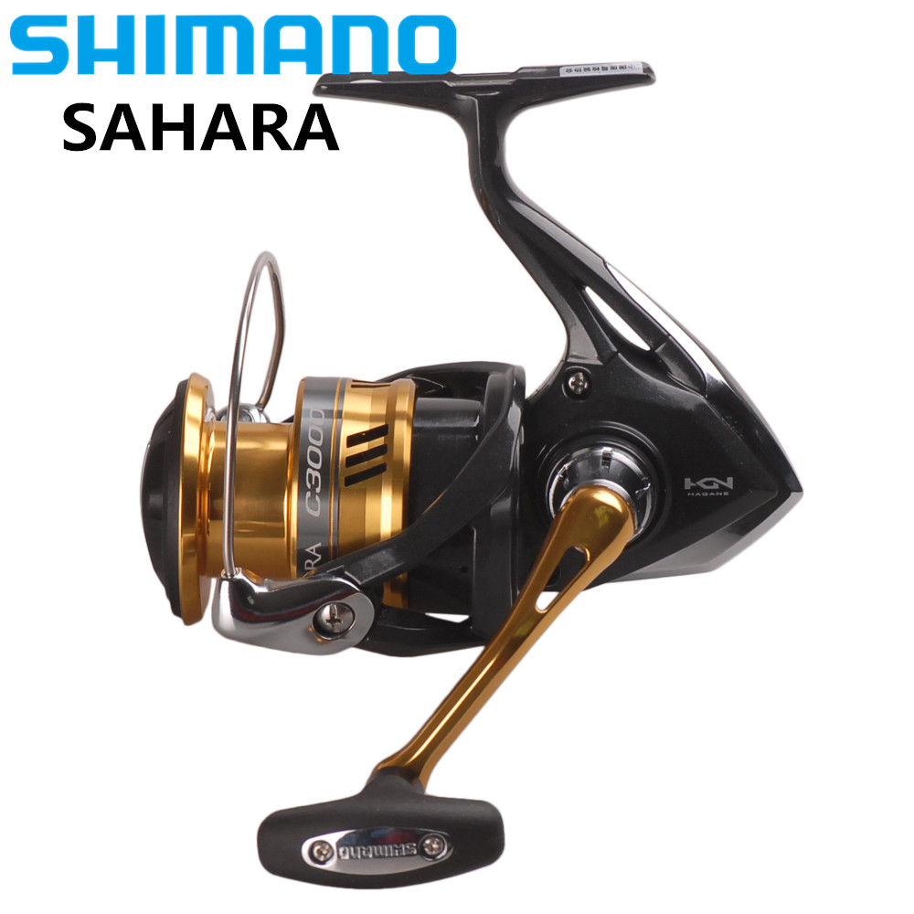 Original SHIMANO SAHARA C2000HGS 2500HGS C3000 Spinning Fishing Reel 5BB Hagane Gear X-Ship Saltwater Fishing Reel Carretilha