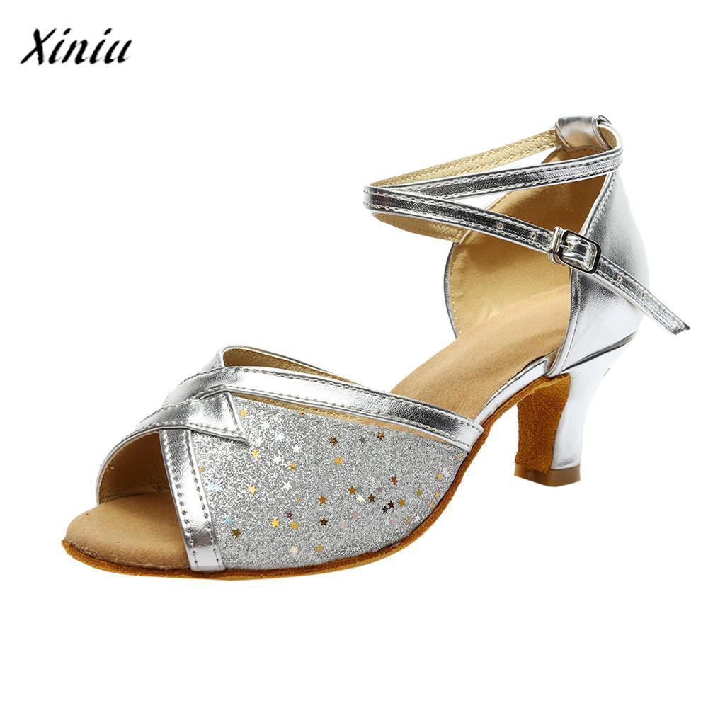 New Multi Colors Women's Solid Fashion Rumba Waltz Prom Ballroom Latin Salsa Dance Shoes Sandals Zapatillas Mujer