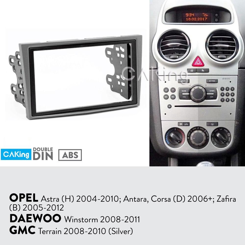 Fascia Radio Panel for OPEL Astra (H) 2004 2010; Antara, Corsa (D) 2006 2015; Zafira (B) 2005 2012 (Silver) Dash Kit Adapt Bezel-in Fascias from Automobiles & Motorcycles