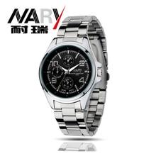 NARY Watches men luxury brand Business Watch quartz Watch sport men full steel wristwatches Casual clock