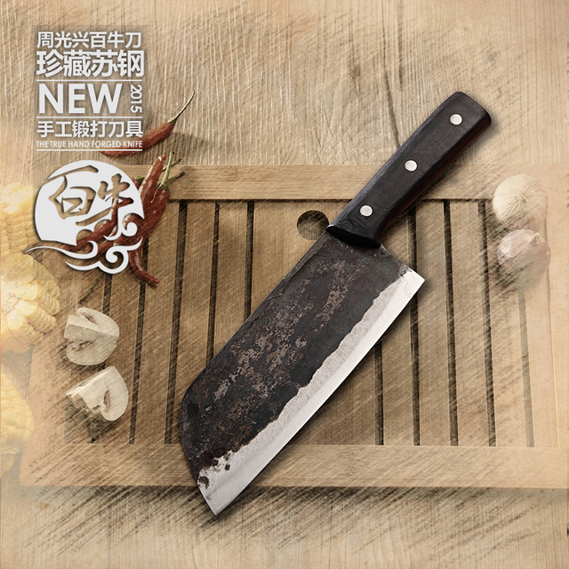 Beau YAMYu0026CK Hand Forged Clip Steel Slicing Meat Knife Cooking Tools Small Kitchen  Knives + Meat