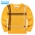 New Fashion Children's Autumn and Winter Clothing Child O-neck Sweater Kids 100% Cotton Warm Knitted Basic Shirt for Baby Boys