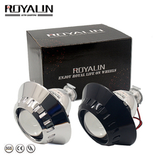 ROYALIN Bi Xenon Car Mini H1 Projector Lens w/ E46-R Shrouds for BMW M3 E90/E91/E92/E93 ZKW E46 External Retrofit headlights