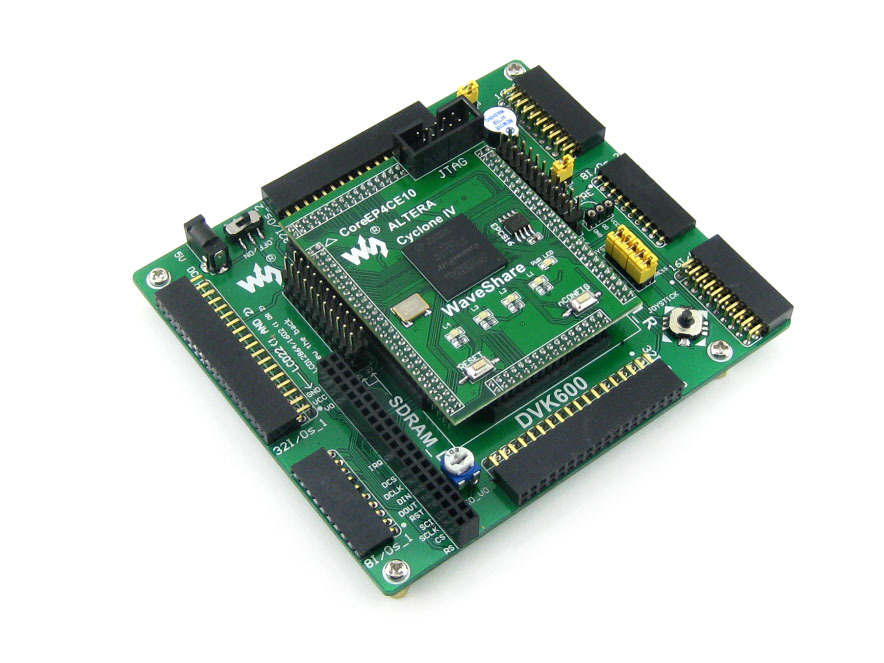 FPGA development board designed for ALTERA Cyclone IV series features the EP4CE10 onboard integrates various standard interfaces