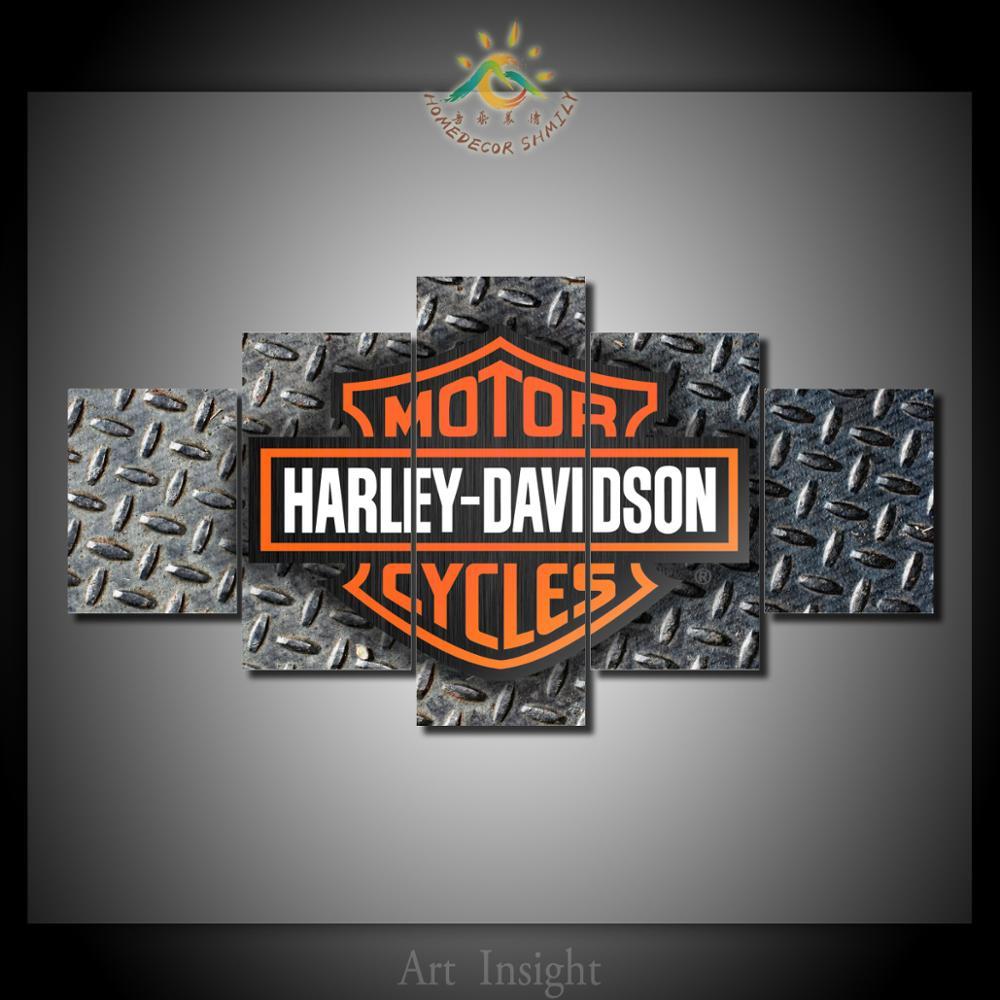 Steel Wall Art Motorcycle Garage Within Harley Davidson Home Decor