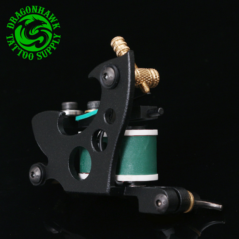 New Design Professional Handmade Tattoo Machine  For Liner Shader Black Color 10 Wrap Coils Tattoo Machine professional 1 bottle tattoo ink for lining and shading newest tribal liner shader pigment black newest 249ml drop shipping