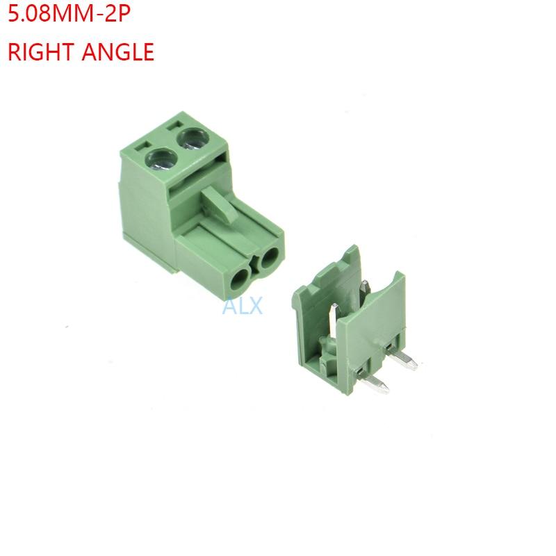 10pcs KF142R 250V 15A 5.08mm Pitch 2P Spring Terminal Block for PCB Mounting