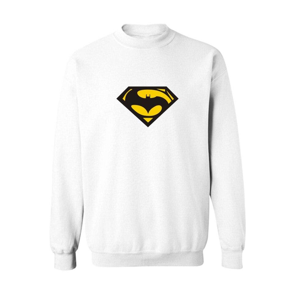 Superman VS Batman Black Harajuku Sweatshirt in Super Saiyan Mens Hoodies and Sweatshirts Hip Hop 3XL for Couples XXS