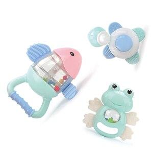 Image 5 - Baby Speelgoed Plastic Hand Jingle Schudden Bel Mooie Hand Schudden Bell Ring 12PCS Baby Rammelaars Speelgoed Pasgeboren Macarons Bijtring speelgoed