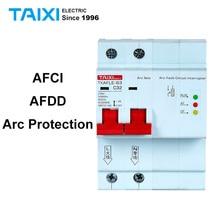 Interruptor de circuito de falla de arco AFCI, Protector de arco AFDD, Detector 1P + N 16A 220V 110V MCB