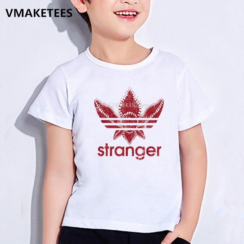 T-shirts Offen Kinder Sommer Mädchen & Jungen T Shirt Fremden Dinge Chompe Monster Abzeichen Druck Kinder T-shirt Casual Lustige Baby Kleidung Hkp5165