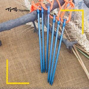 Image 5 - 6 個ティトチタン合金チタンスパイクアクセサリーテントステーク直径 5.0 ミリメートル/6.0 ミリメートルテントアクセサリー爪