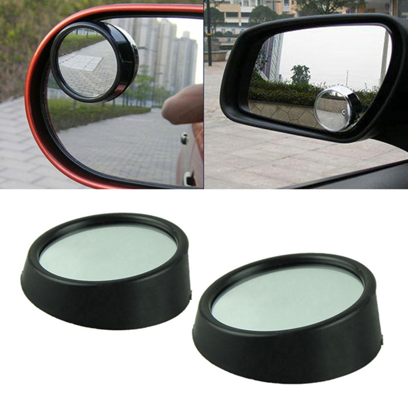 styling mobil 360 Derajat Adjustable Cermin Mobil Wide Angle Putaran 2 buah satu kartu Blind membalikkan wide-angle mobil kaca spion