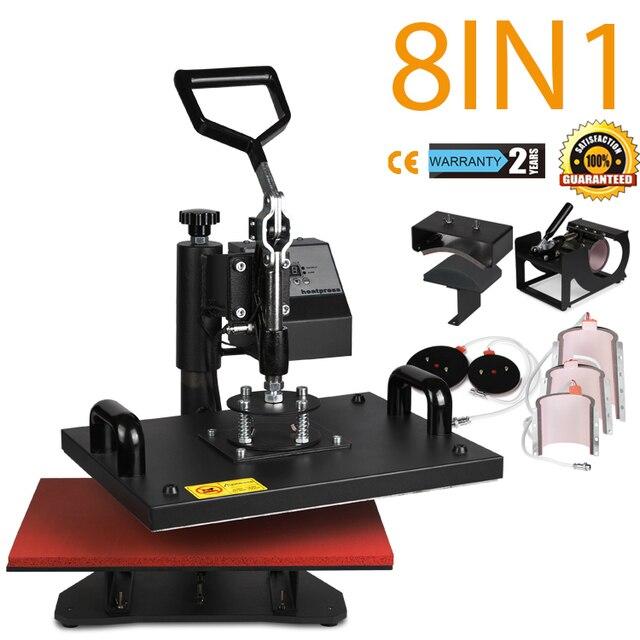 2cd1b7a1 8in1 T-Shirt Mug Hat Plate Heat Press Machine Digital Transfer Sublimation