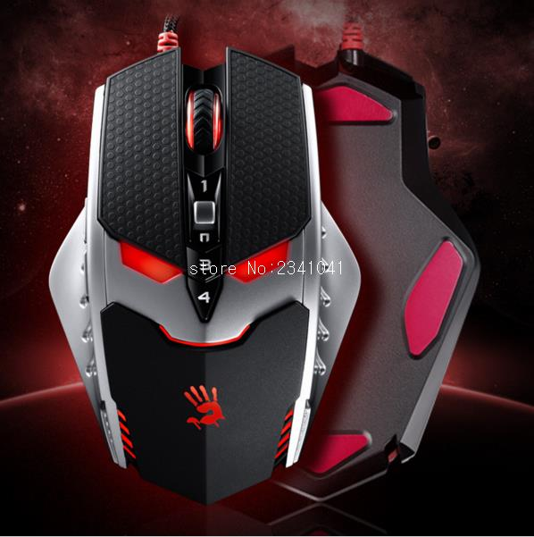 A4TECH TL80 TL8 Bloody PC Game 9 Bottons Laser Gaming USB Mouse Wired 8200 DPI Professional 4 Mode Mice for Computer Accessories