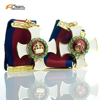 Honorowy Order usługowy DSO GRVI EIIR brytyjski Medal wojskowy tanie i dobre opinie Metal Nowoczesne Patriotyzmu Europa AC ANSEN CRAFTS White Ribbon Enamel English Japanese French Chinese and so on Gift and Collection