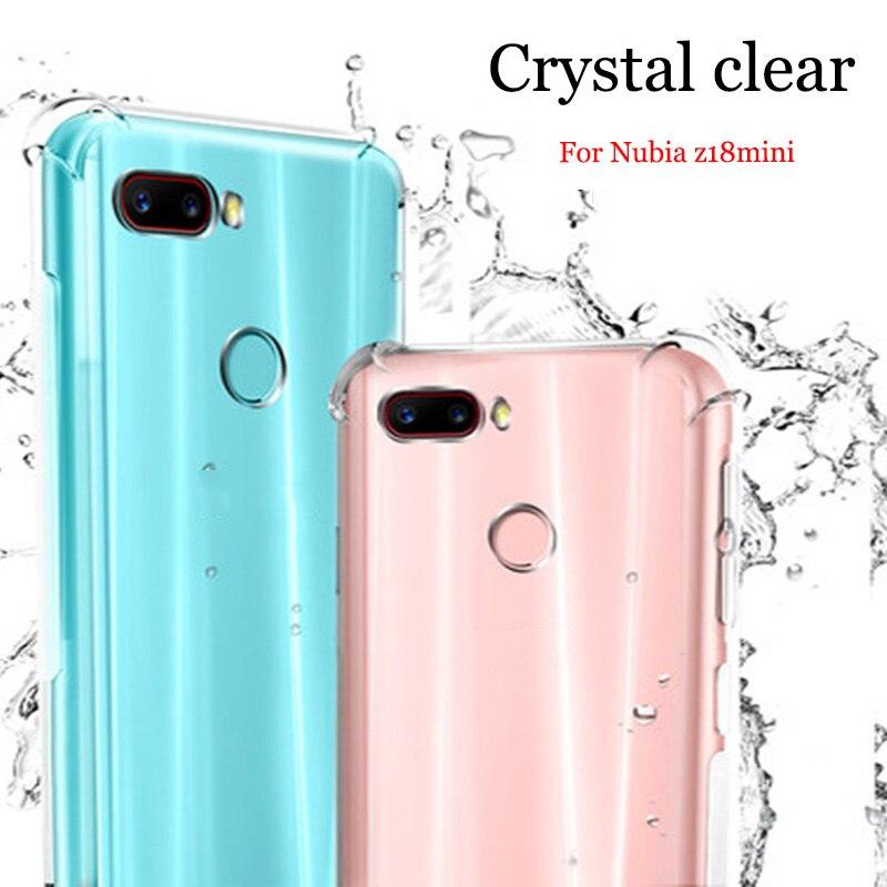 Pour Nubia Z18mini cas Claer TPU Cas Couverture souple transparent Pour Nubia Z18 mini cas NX611J Téléphone Cas Z 18 mini shell