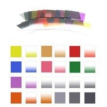 24 kleuren Vierkante Afgestudeerd & Full Color Lens Filter set voor sony nikon canon sony a6000 lens 70d eos