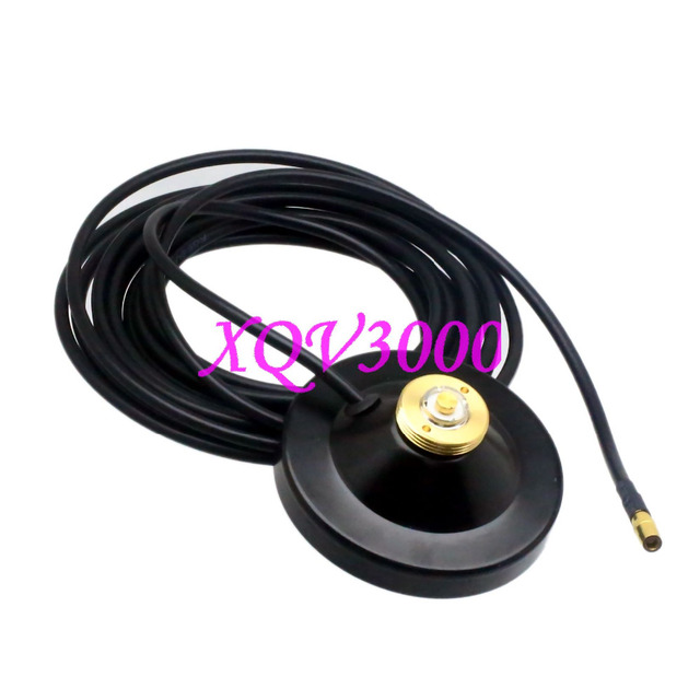 US $25 0 |NMO mount magnet antenna base SMB F 5M cable motorola kenwood car  mobile radio-in Connectors from Lights & Lighting on Aliexpress com |