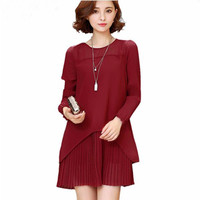 2017 Summer Dresses For Women Clothing Tunic Lace Party Dress Female Office Dress 5XL Plus Size