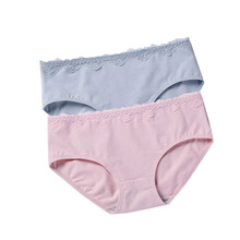 DEWVKV Hot Sale Lingerie  Pure Color Underwear Panties women Cotton Boyshorts Women Low-rise New Arrival Sexy Lace R