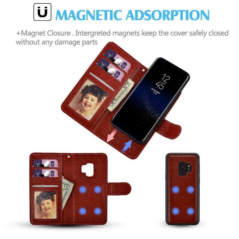 LANCASE Samsung Galaxy S7 Edge Case Wallet Flip անջատվող - Բջջային հեռախոսի պարագաներ և պահեստամասեր - Լուսանկար 3