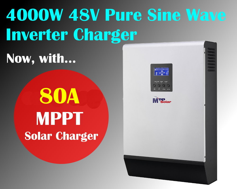 MPPT solar inverter 5kva 4000w 48v pure sine inverter with mppt solar charger 80A with 60A battery charger-in Inverters & Converters from Home ...