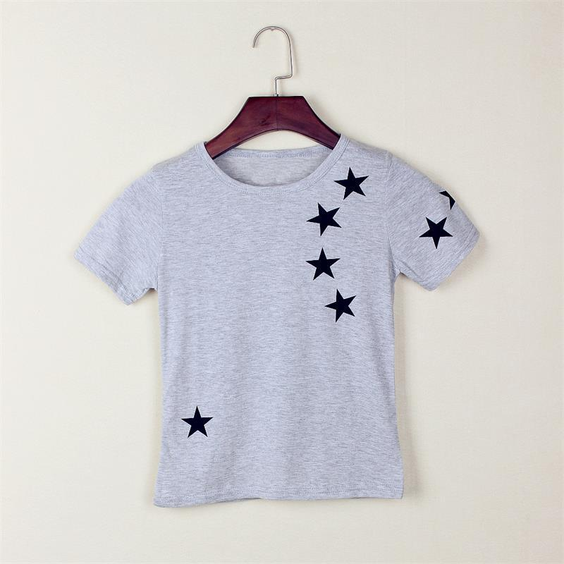 Hot Sale New 2017 Children Star T Shirts, Fit Girls Boys Kids Short Sleeve Tee Cotton Baby Clothing, girls and boys' t-shirts 5