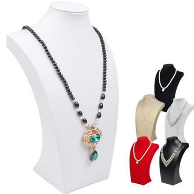 29CM175CM black velvet Necklace Mannequin Stand Jewellry Pendants