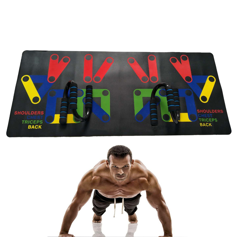 Push Up Rack Mat 14 System Men Women Comprehensive Fitness Exercise Workout Push up Stands Body Building Training Gym