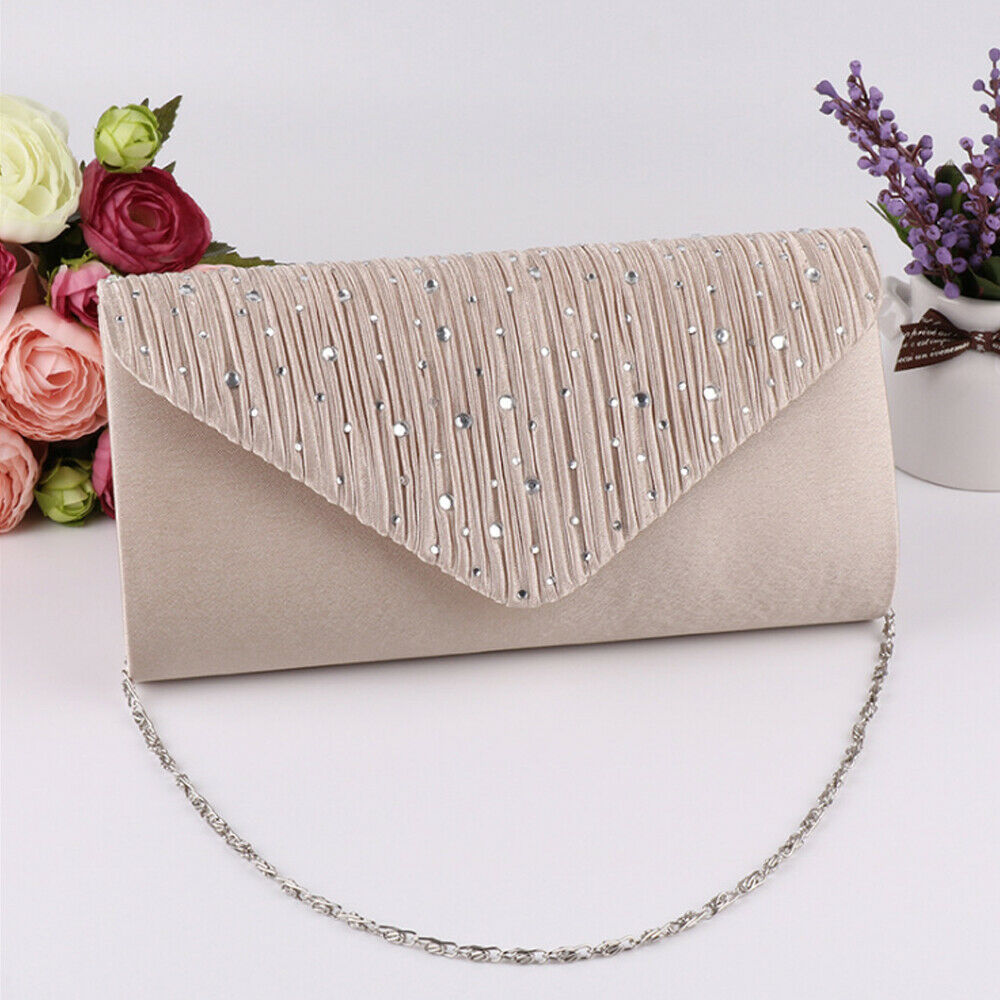 Envelope Clutch Clothing Prom-Handbags Purse Wedding Shoulder-Bag Fashion Bags Diamonte