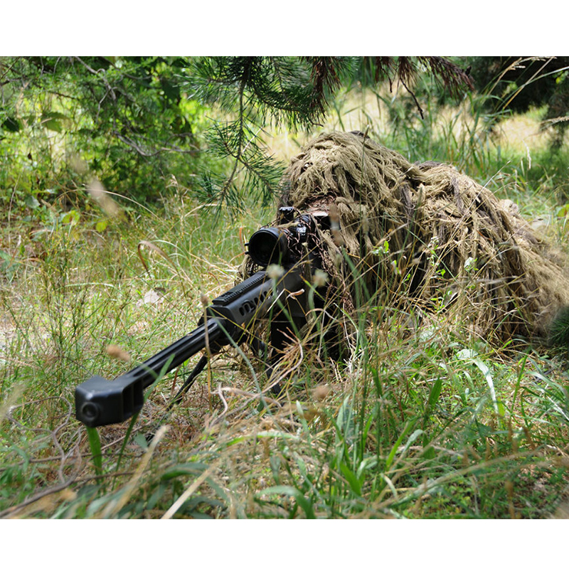 ФОТО CS Bionic Grass Ghillie Suit 5 Pieces Sets Yowie Sniper Tactical Camouflage Suit  with Hoods rifle covers Hunting  Ghillie Suit