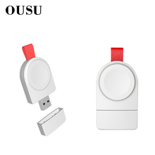 OUSU QI Wireless Charger For apple Watch Magnetic Fast USB iwatch 1 2 3 4 cargador Portable Charging Station