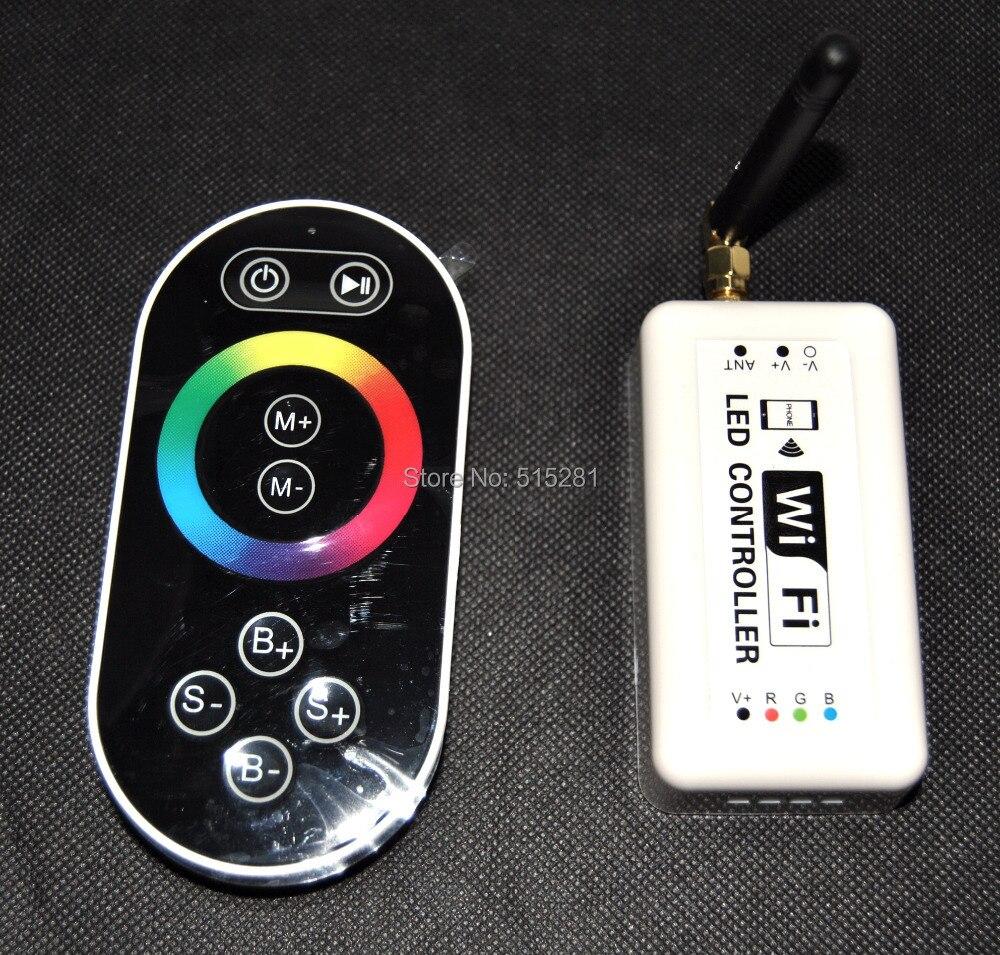 Оригинальный Wi-Fi RGB Магия цвета светодиодные полосы контроллер DC7.5-24V с пульта дистанционного управления, системы Android/IOS, музыкальный режим и...