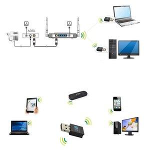 Image 2 - Mini 300M USB2.0 RTL8192 Wifi dongle WiFi adapter Wireless wifi dongle Network Card 802.11 n/g/b wi fi LAN Adapter