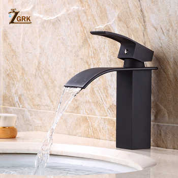 ZGRK Basin Faucet Modern White Bathroom Faucet Waterfall faucets Single Hole Cold and Hot Water Tap Black Basin Faucet Mixer Tap - DISCOUNT ITEM  45% OFF All Category