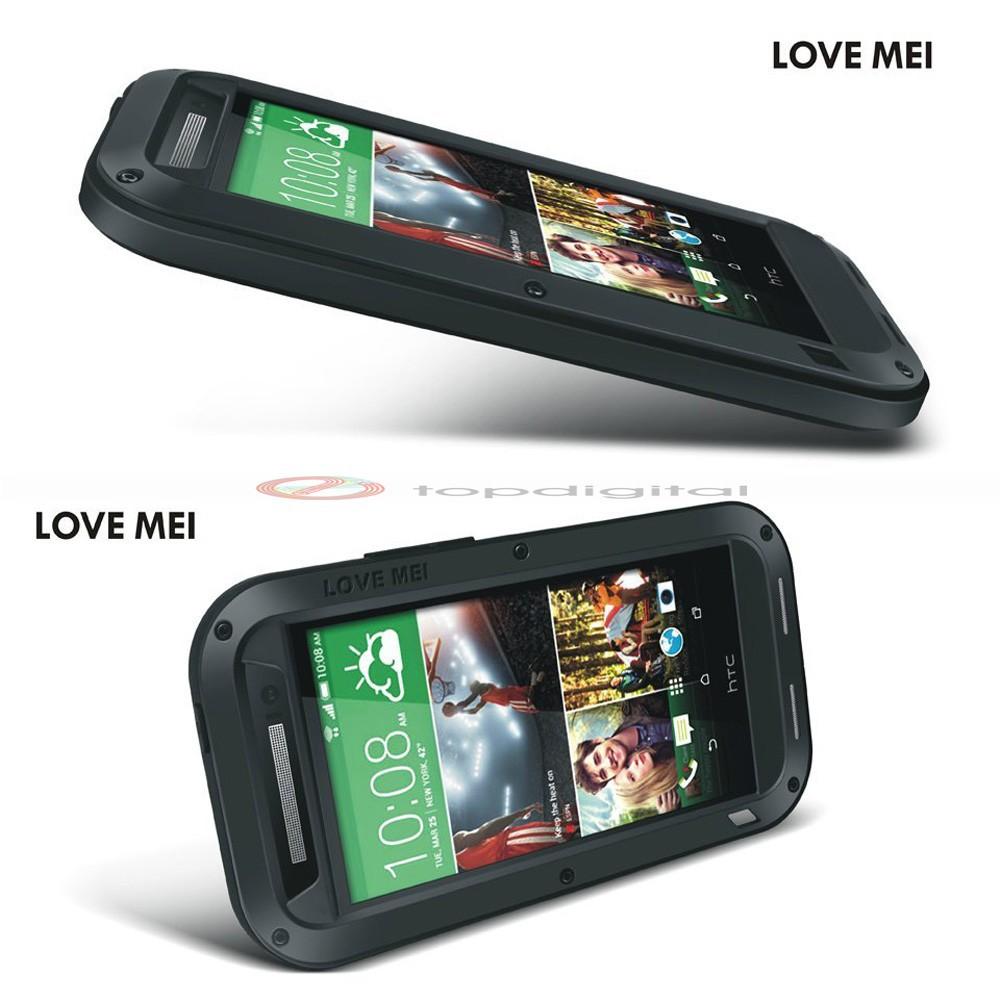 LOVE MEI Shockproof Dirtproof Waterproof Metal Case For HTC One 2 M8 (4)