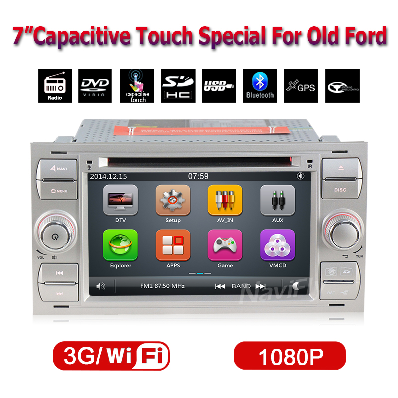 free ship capacitive screen font b Car b font radio Player For Galaxy Fiesta S Max