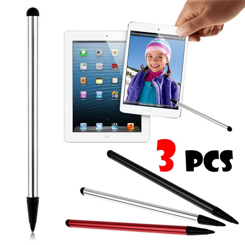 3Pcs Tablet Touch Screen Pen Stylus Universal For Ipod IPhone IPad/ Samsung Tab Phone PC Android Capacitive Screen Devices Hot