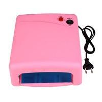 Full 12 Color UV Gel Nail Art Nail Polish Nail UV Lamp Dryer Tools EU Plug Set