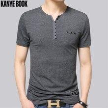 Camiseta de los hombres de Corea moda 2018 hombres patchwork Camiseta Slim  street marca verano tema hit color ruso blusa botón 74182e13ce2