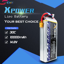 5pcs 14.8V 4s Lipo battery 10000mAh 30C max 35C Xpower XT60 T EC5 XT90 plug for rc drone Helicopter Airplane parts