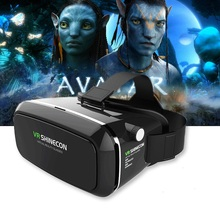 Shinecon VR Box Google Cardboard Virtual Reality Immersive 3D Glasses For 4.7-6.2 Inch Phone With Bluetooth Gamepad Vs Bobo VR 4