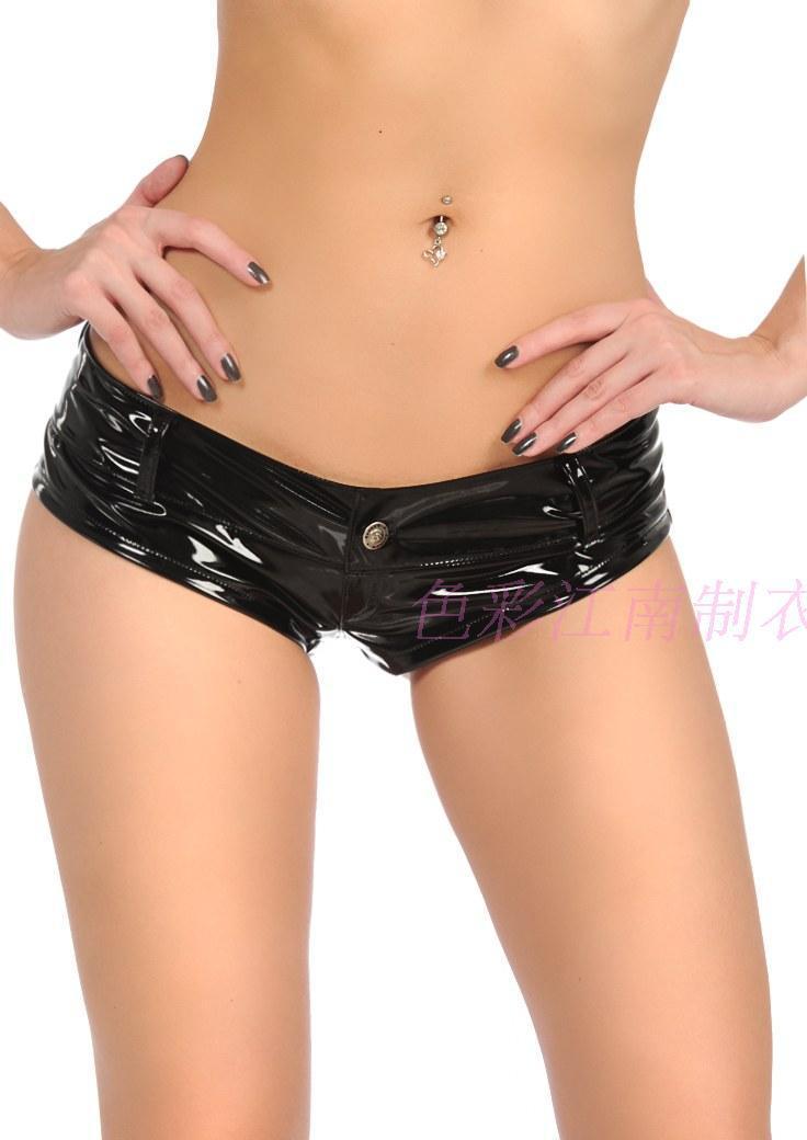 bbd2e5c8feff5d € 14.55 20% de réduction|Boxer Sexy Mini short en cuir PVC noir femme  taille basse jean chaud femme Bermuda Feminina-in Shorts from Mode Femme et  ...