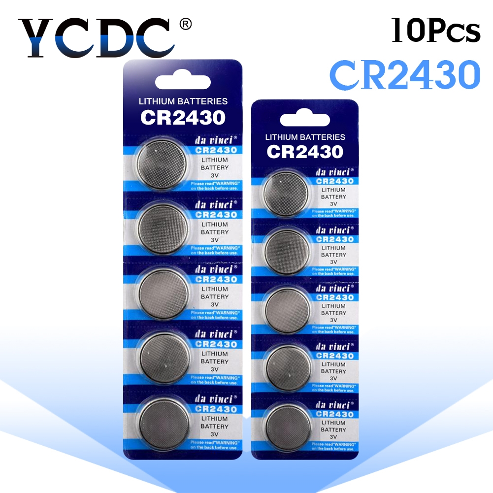 10pcs/pack CR2430 Lithium Button Battery DL2430 BR2430 KL2430 Cell Coin Batteries 3V CR 2430 For Watch Electronic Toy Remote