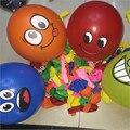 2017 20 unids Azar Mezclamos Smiley Globo de Aire Globo Impreso Big Eyes Bolas Fiesta de Cumpleaños Decoración Globos de Látex Inflable