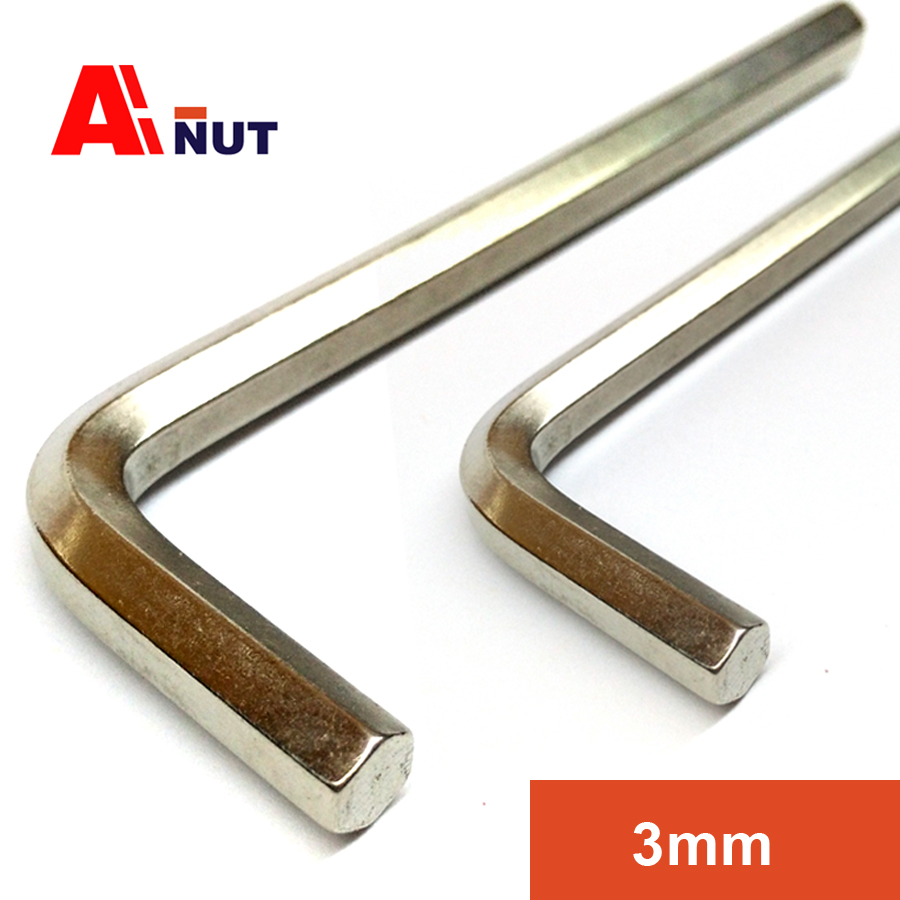 3mm hex wrench 50 pieces, hex socket allen wrench , nickel plating hex key wrench screwdriver tools 1.5mm~19mm